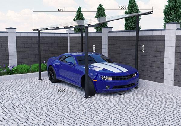 Разборной автомобильный навес  400x516x299cм